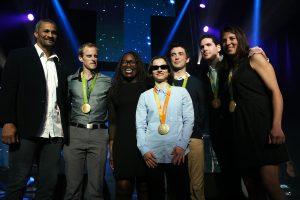 Les 7 champions olympiques de Rio 2016 et Didier Dinart à la Nuit des Étoiles 2017