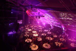 Nuit des Étoiles, Salle Novotel Atria, Tables