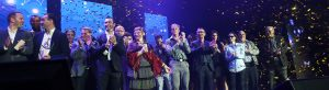 L'ensemble des lauréats et stars du sport de la 20ème Nuit des Étoiles